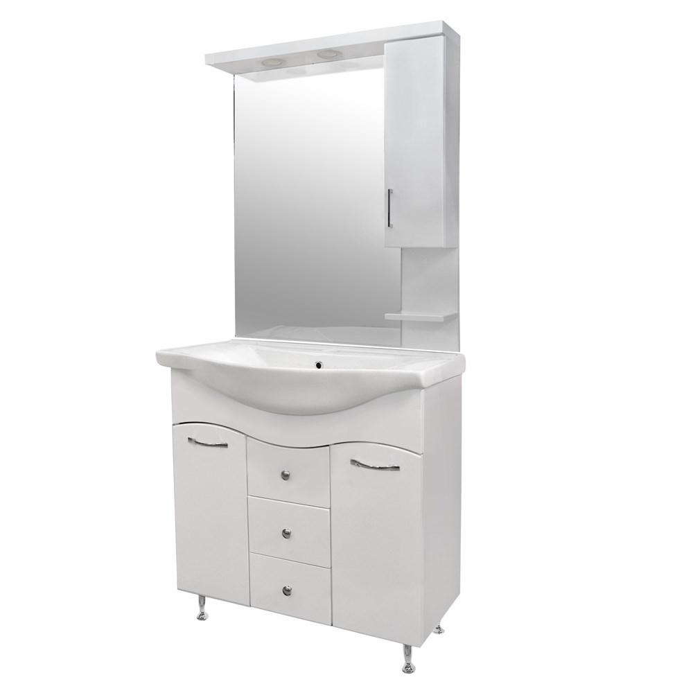 Mobilje tualeti KORAL 85 MDF e bardhe 224489 3