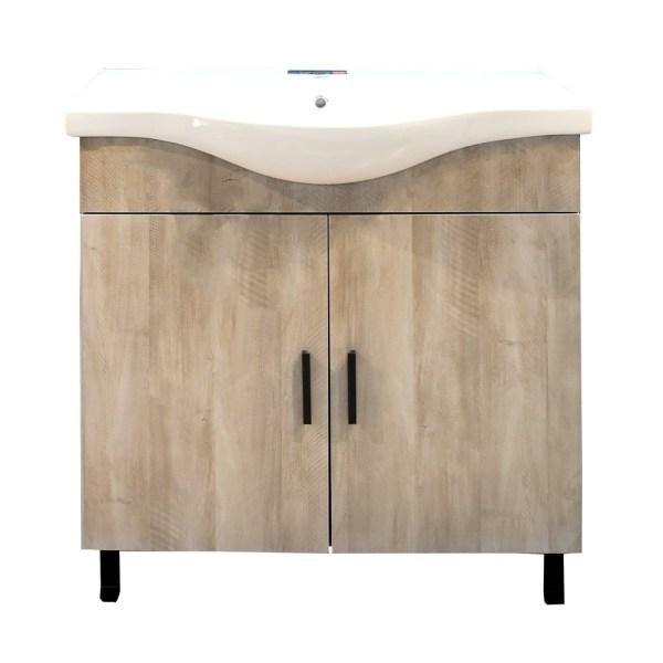 Mobilje tualeti LUNA 80 DROP melamine gri 224356 2