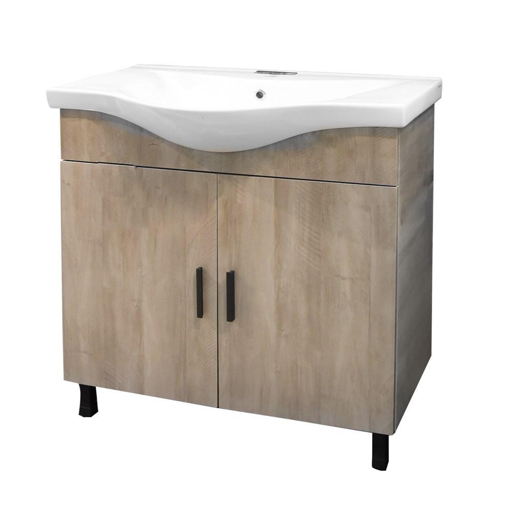 Mobilje tualeti LUNA 80 DROP melamine gri 224356 3