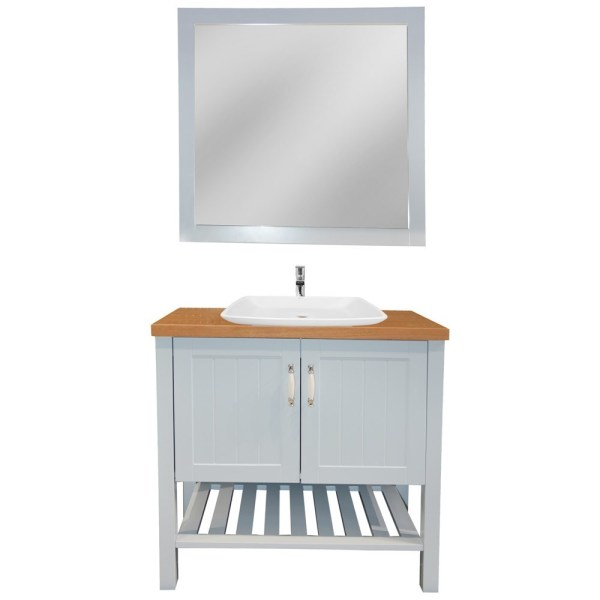 Mobilje tualeti MDF E bardhe 221432 2