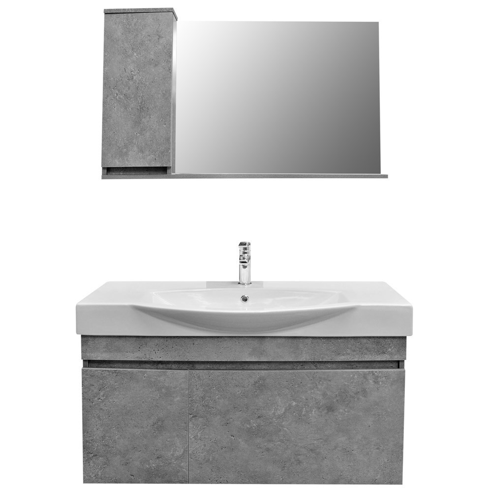 Mobilje tualeti SENSO 105 DROP melamine gri 222176 3