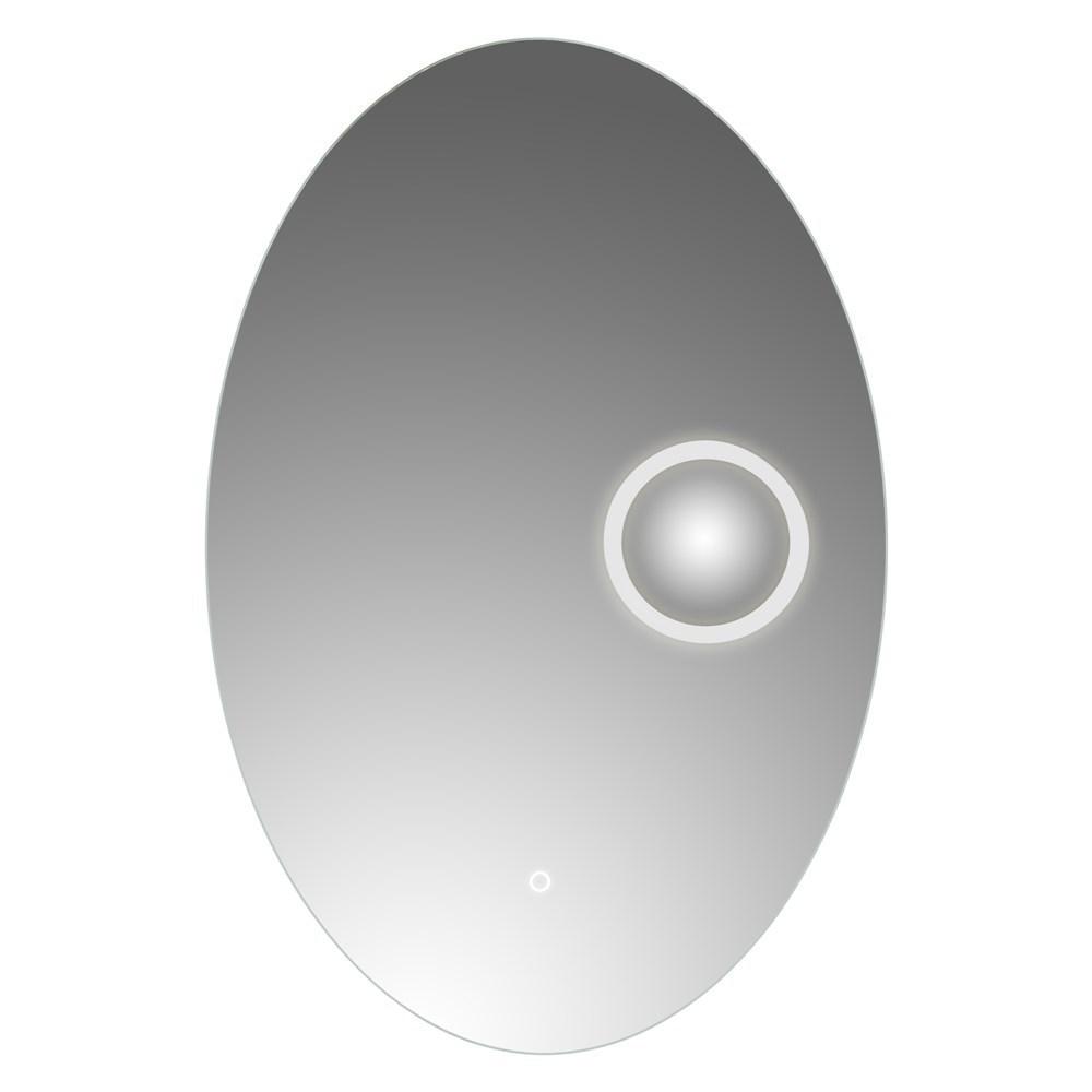 Pasqyre me ndricim LED kornize alumini sergjen metalik thares avulli 6500K 5 mm 60x90 cm 224095 2