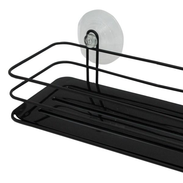 Raft tualeti me nje mbajtese metal e zeze 26x11xH9 cm 224278 2
