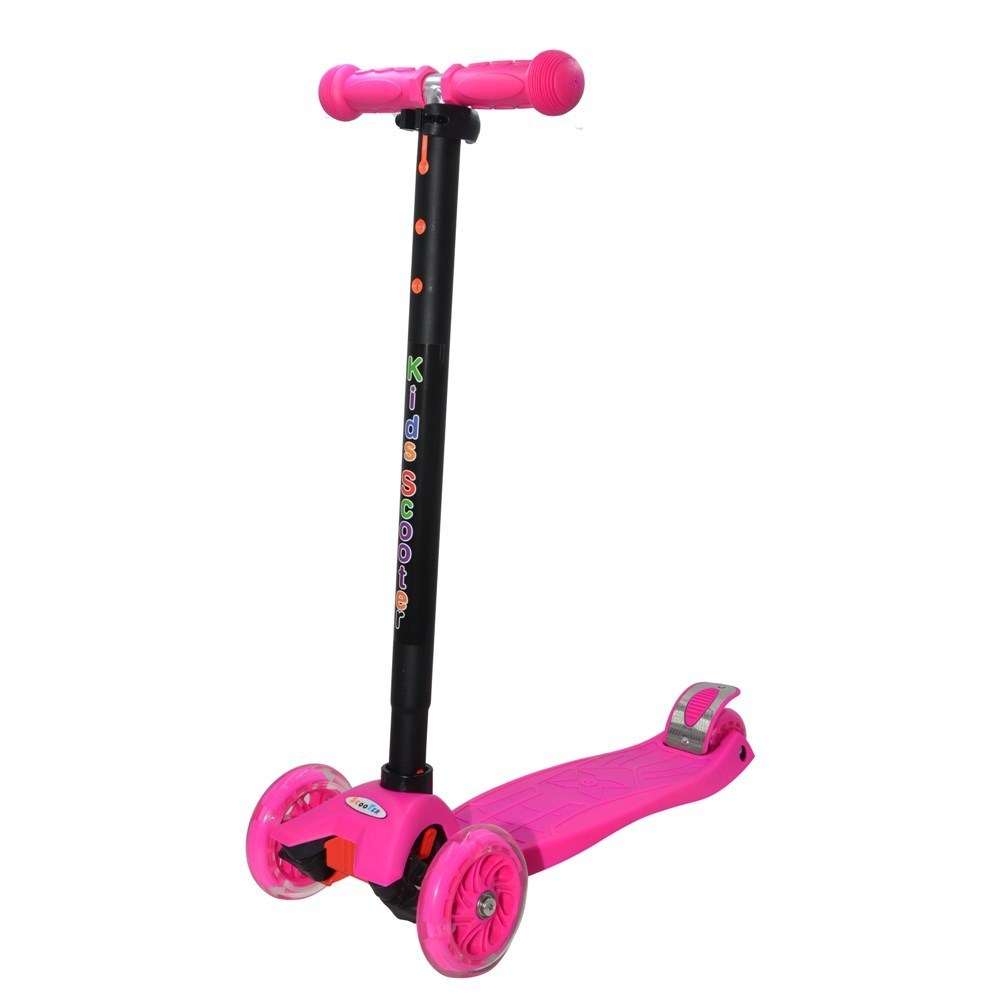scooter kids maxi s910pi wheels with led pink