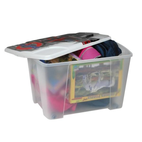 storage box london plastic clear 56x39xh35 cm 1