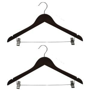 suit hanger set of 2 pcs megatek wooden antique 335x06xh16 cm
