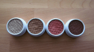 Left to right: Metallic, Metallic, Pearlized, Matte