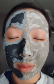Left: GlamGlow Supermud, Right: Body Shop Clay Mask