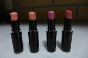Left to right: Think Pink, Just Peachy, Mauve Outta Here, Wine Room