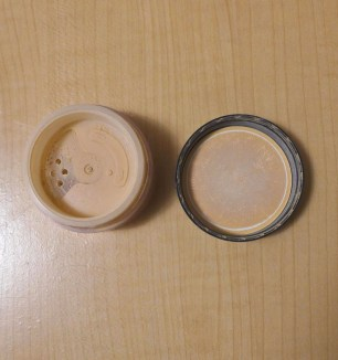 Foundation can twist open and locks