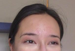 Bare skin (only mascara and under eye concealer on)
