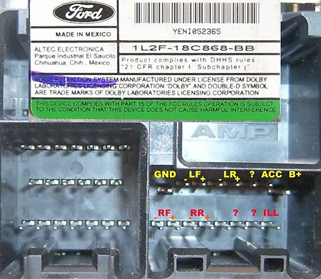Ford Head Unit Pinout Diagram Pinoutguide