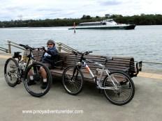 Biking at Sydney Olympic Park, Australia