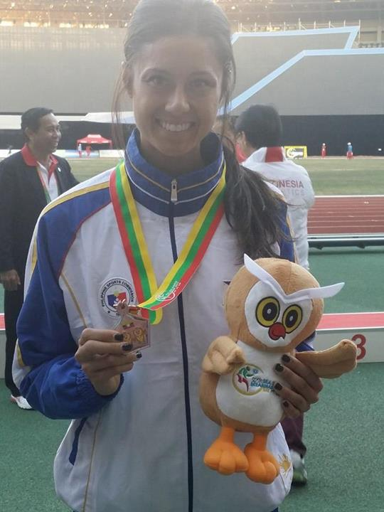 Fil-Heritage athlete Jess Barnard Bronze medal at SEA Games steeples sets a New National Record