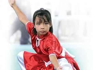 Faith Andaya of the Philippines silver medalist World Junior Wushu Champs