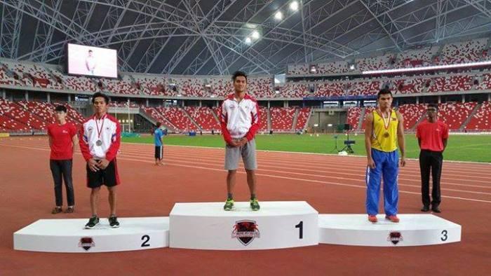 Julian 'CLOWNS' wins the Singapore Open Men's Long Jump. 2015 Singapore Open