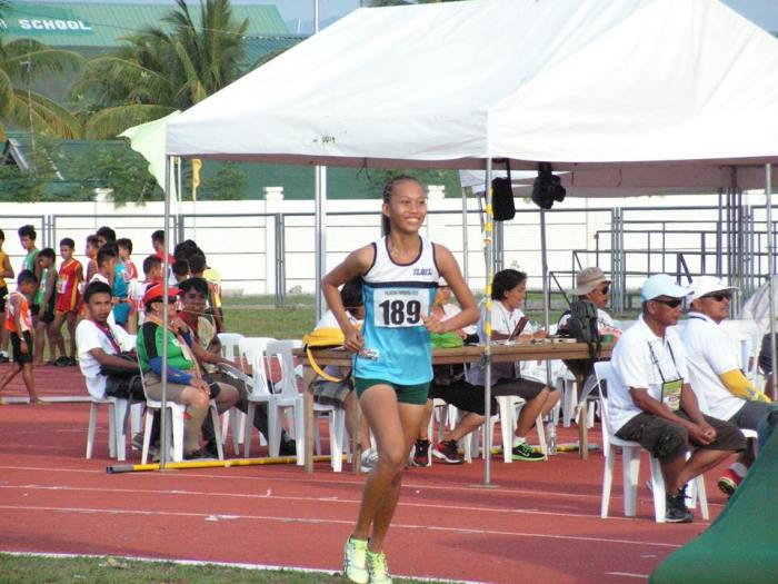 The tall gangly figure of Kaylene Mosqueda of WV preparing to jump. Photo Credit: Airnel T. Abarra, pinoyathletics.info copyright 2015
