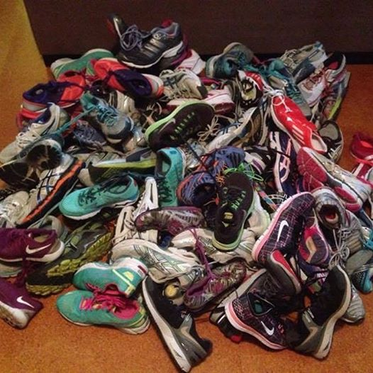 Shoes collected by Isang Smith and Team Titus for kids in need in Cebu.