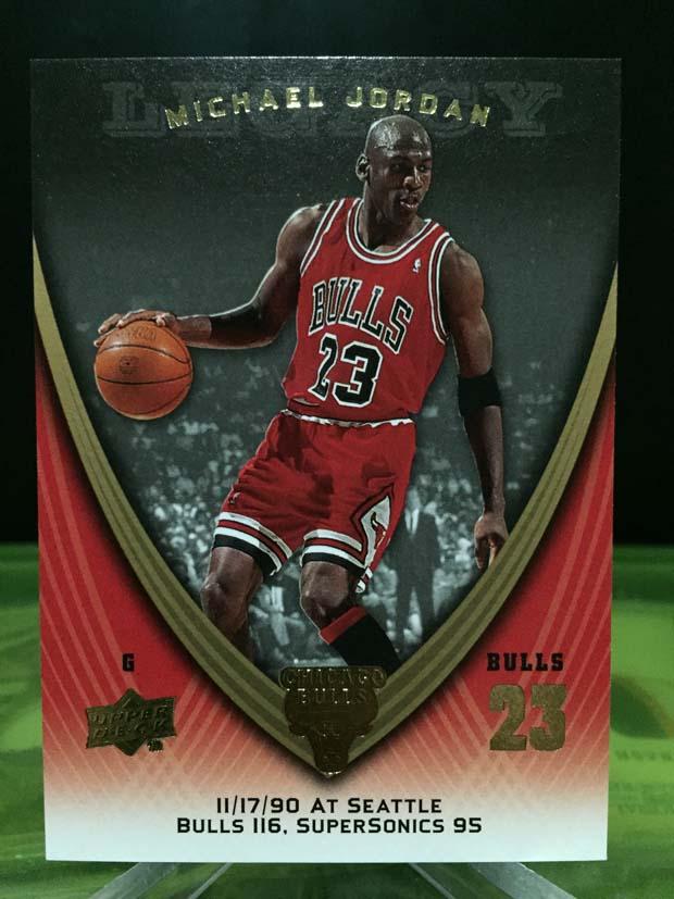 Michael Jordan Legacy Card - 2009/10 Upper Deck Basketball (Card# 436)