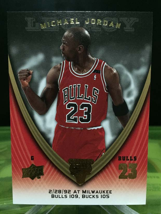 Michael Jordan Legacy Card - 2009/10 Upper Deck Basketball (Card# 566)