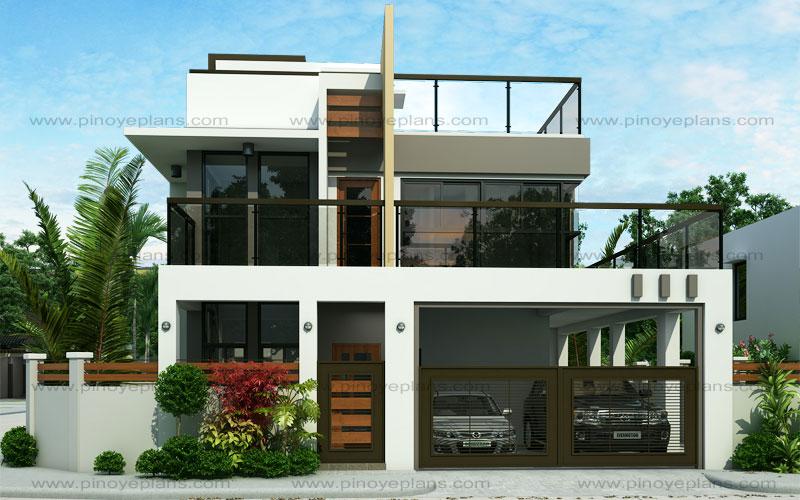 Ester - Four Bedroom Two Story Modern House Design