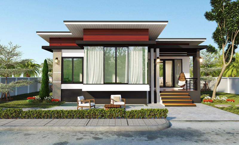 Modern 2-Bedroom Single Story House