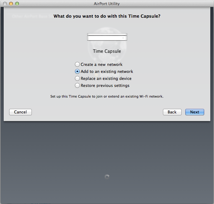 How to Add Time Capsule to an Existing Wireless Network