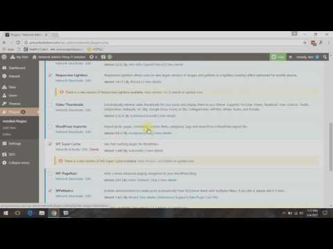 Quick Fix: WordPress Multi Site Cannot Update Plugins