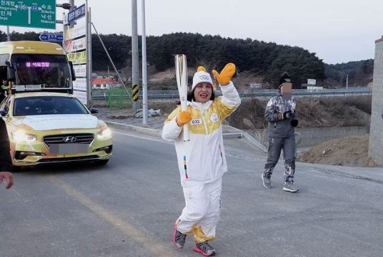 Gerlyn Dulana Park joins torch relay