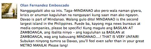 "Davao based blogger on ""War in Mindanao"""