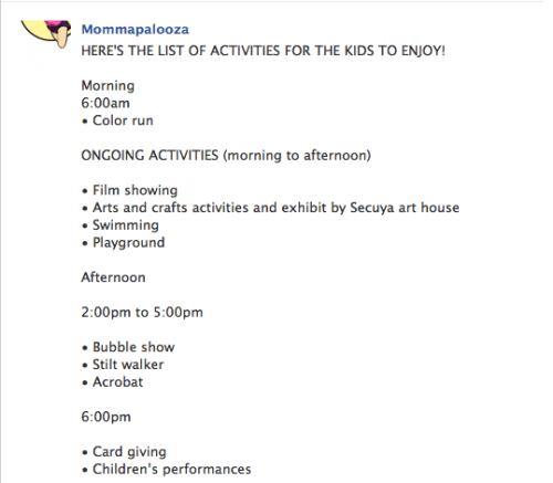 List Of Activities on Mother's Day
