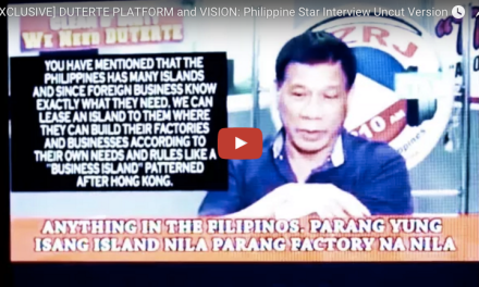 Watch: Durterte's platform and vision for the Philippines
