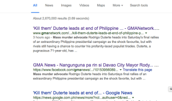 GMA News posts ridiculous Duterte News