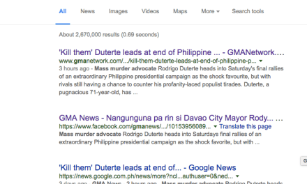 GMA News posts ridiculous Duterte News