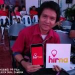 Posing with HirNa Taxi Hailing App