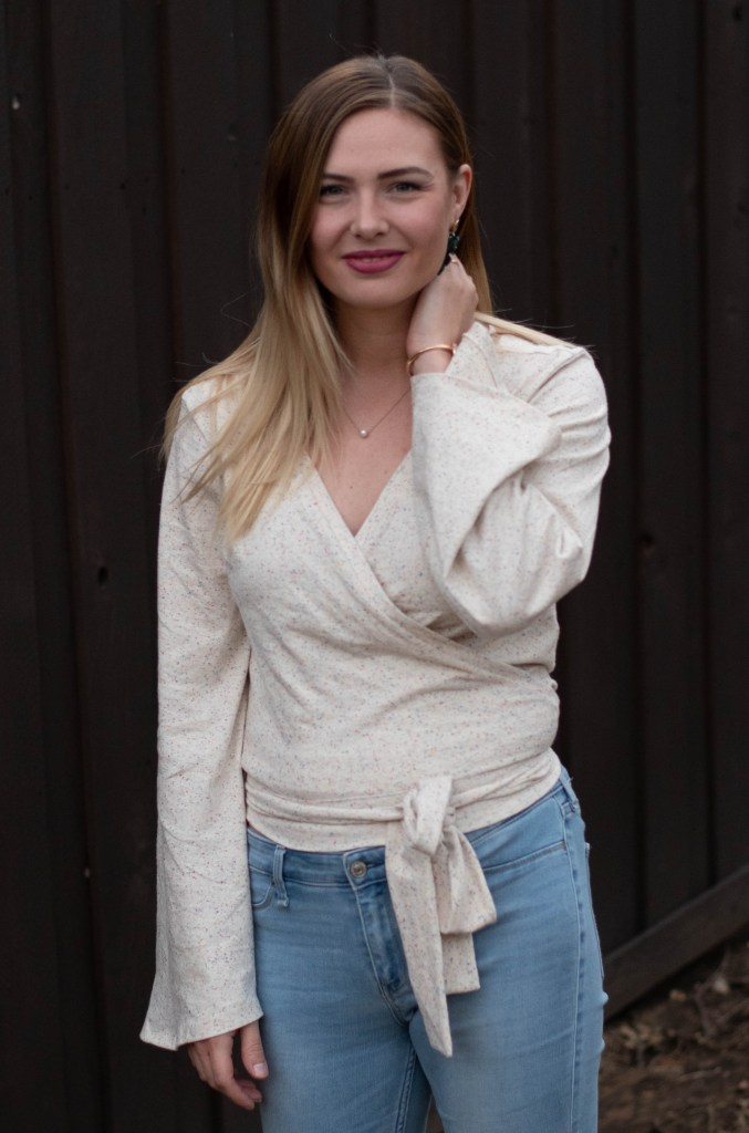 sewing the Bella Wrap Top