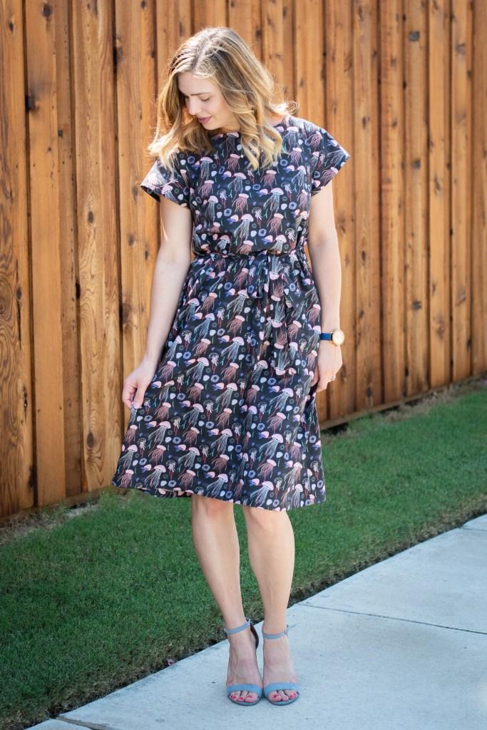 sewing the Meg Dress
