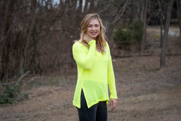 sewing the Neon Tabor Sweater