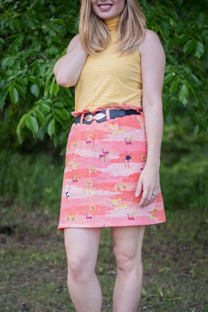 sewing the Ellie & Mac paperbag skirt