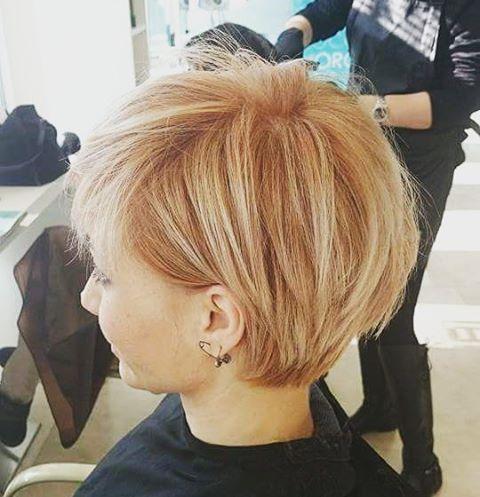greathair hairstyle hairideas coloringhair pinsandpolish peachhair shorthair pixiecut