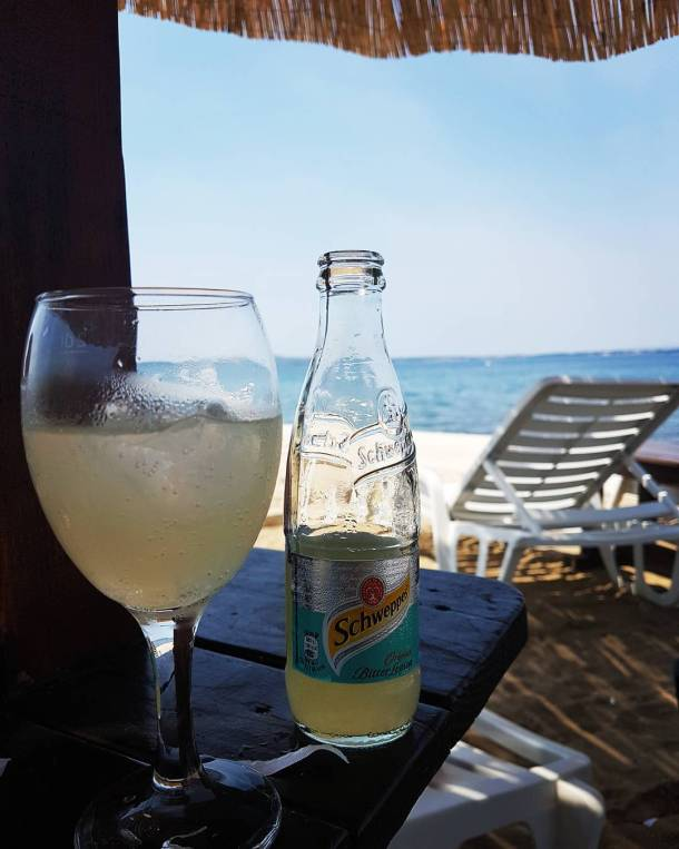 Enjoying this beautiful weekend beach sunnyday summer schweppes tonic bitterlemonhellip