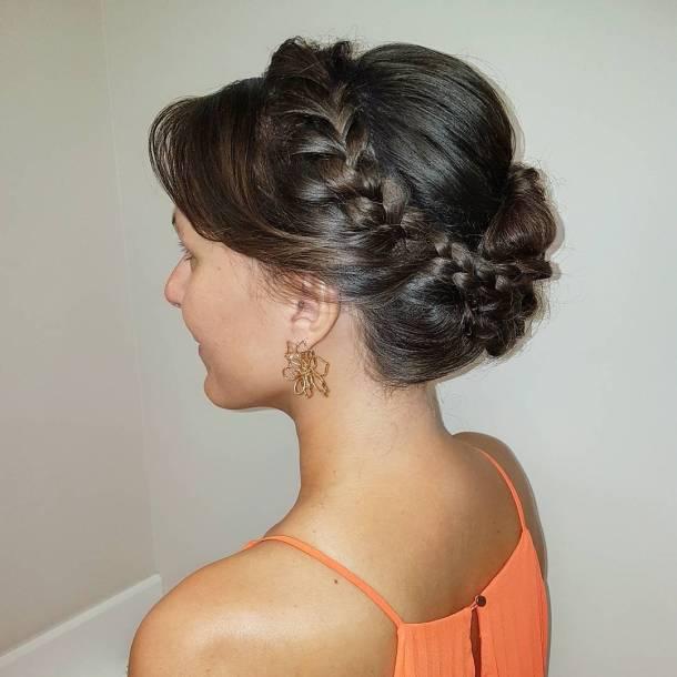 Maid of honor wedding hairstyles urbanfrizerskisaloni updo braids bun zagreb