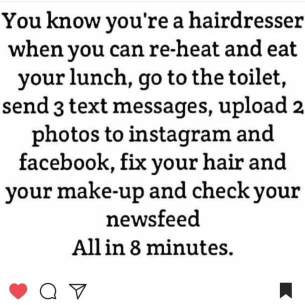 Omg this is so true insane sotrue hairdressers