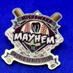 Rush baseball pins