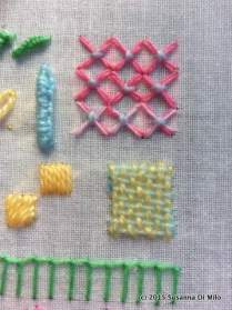 cross stitch and weaving