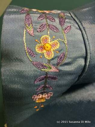 Close detail of hand embroidery