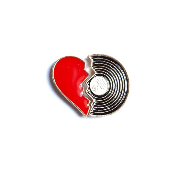pin's duo coeur vinyl