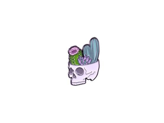 pin's flowers skull