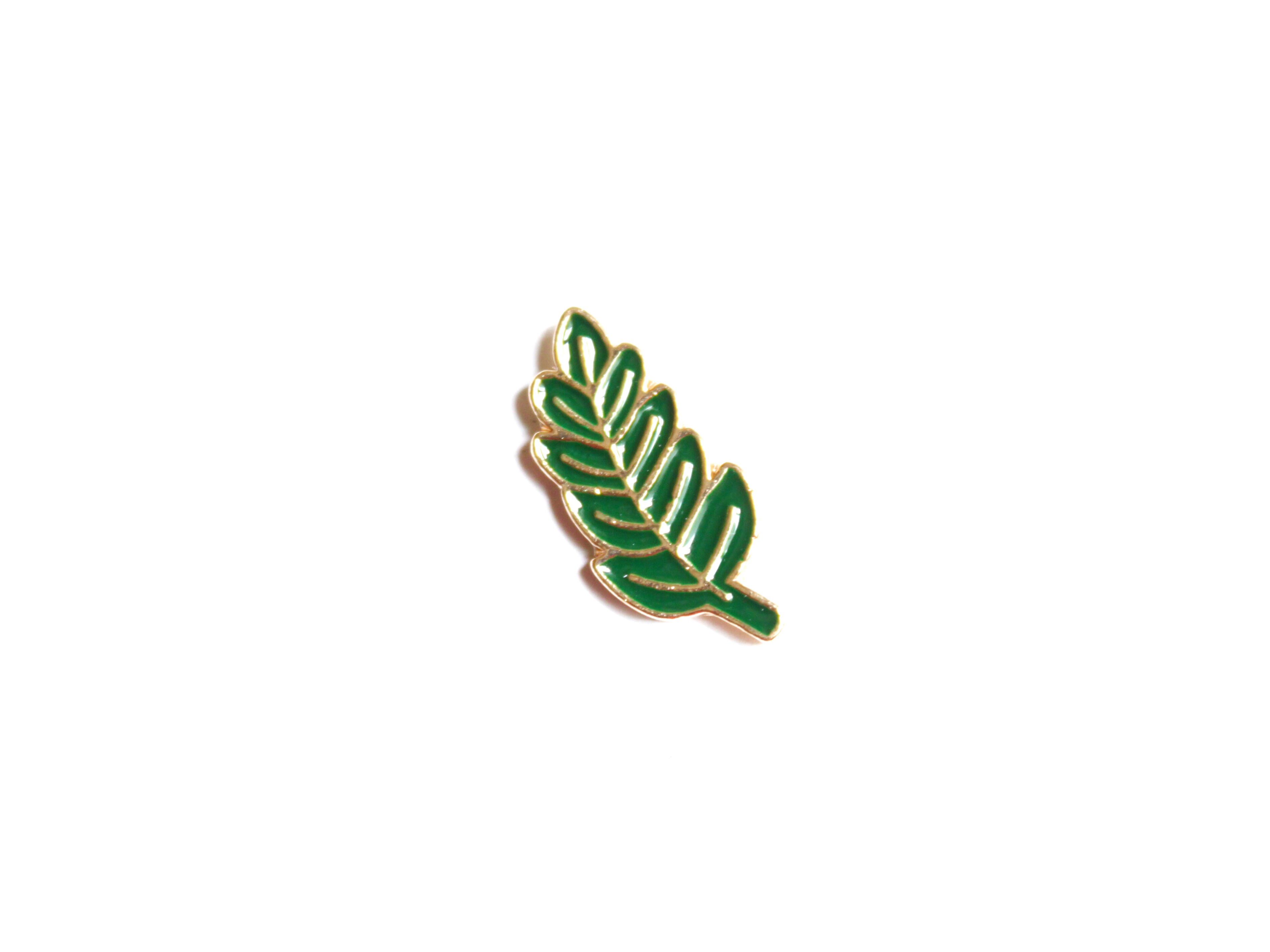 pin's feuille verte