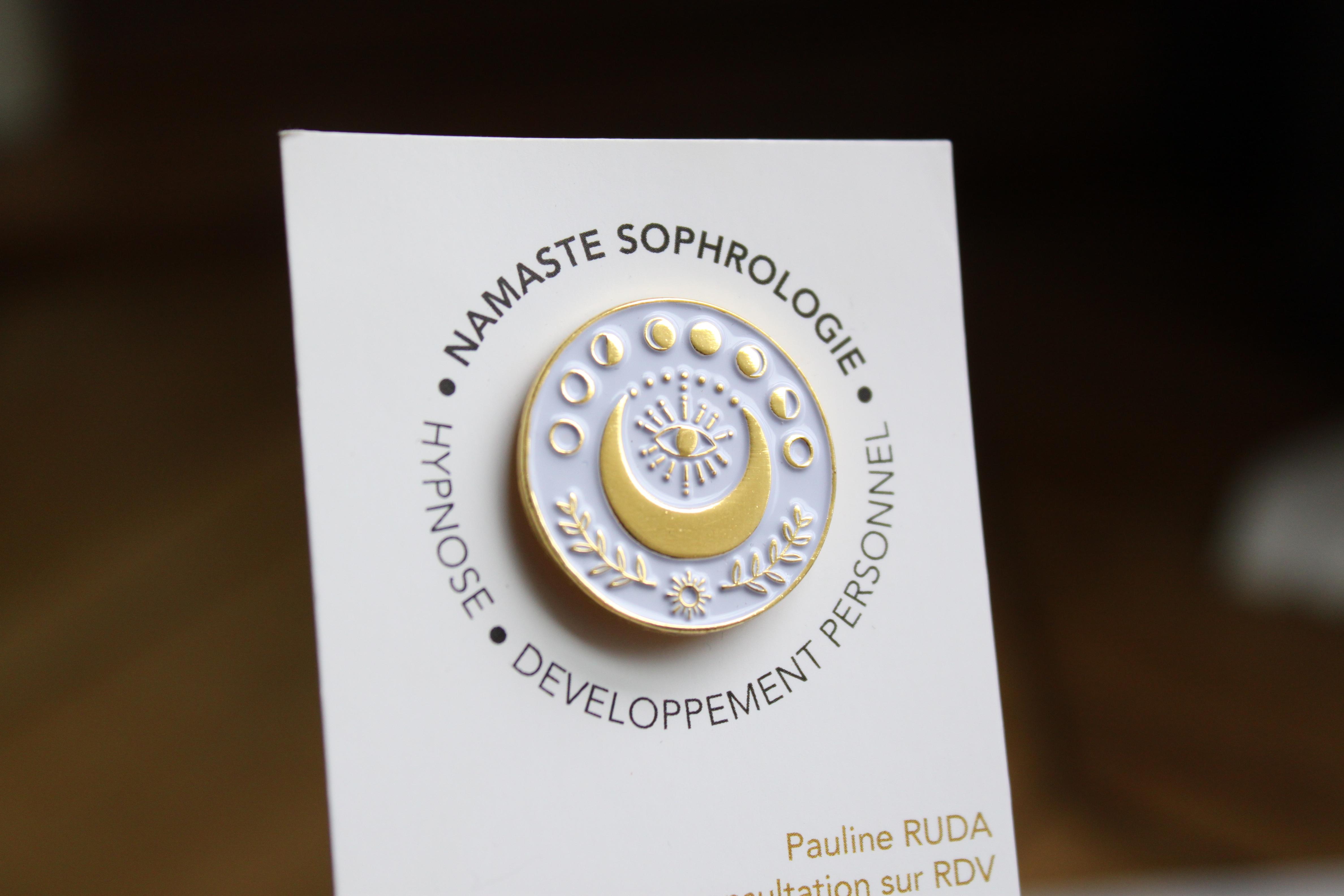 namaste sophrologie pin's